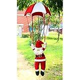 Xmas Ornament, Misaky Christmas Tree Hanging Santa Claus Snowman In Parachute Decoration