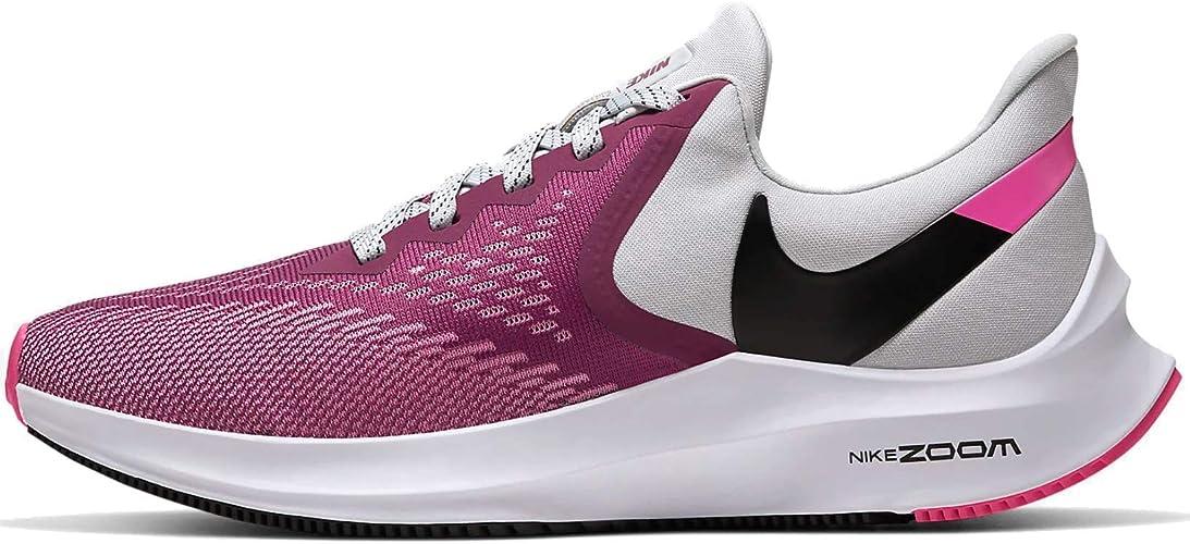 Nike Air Zoom Winflo 6, Zapatillas de Atletismo para Mujer, Multicolor (True Berry/Black/Vast Grey/Pink Blast 602), 44.5 EU: Amazon.es: Zapatos y complementos