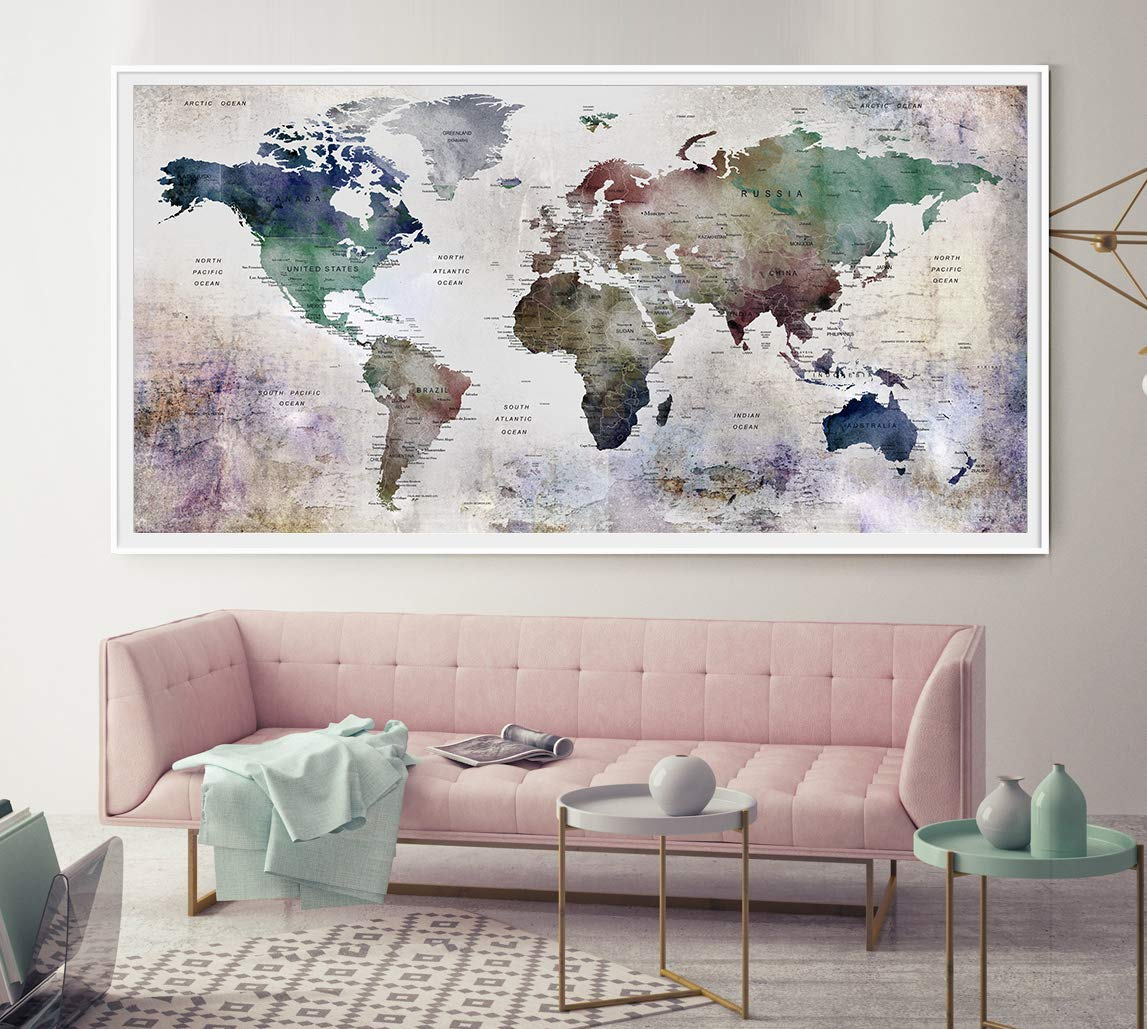 Amazon com artfravu modern large abstract watercolor wall