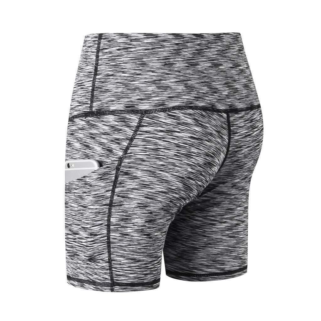 AmyDong Womens High Waist Short Abdomen Control Training Quick-Drying Tight-Fitting Stretch Fitness Yoga Pants