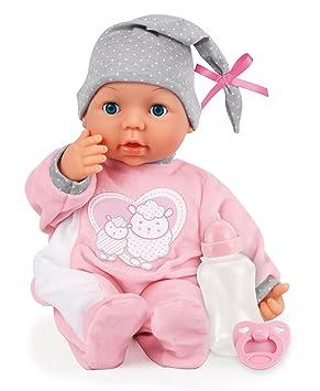 Bayer Design - Muñeca bebé 38 cm, Piccolina Interactive, con 26 Sonidos de bebé