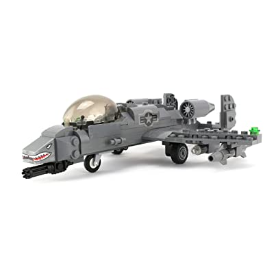 Battle Brick Basic A-10 Warthog Thunderbolt Air Force Custom Set: Toys & Games [5Bkhe0306353]