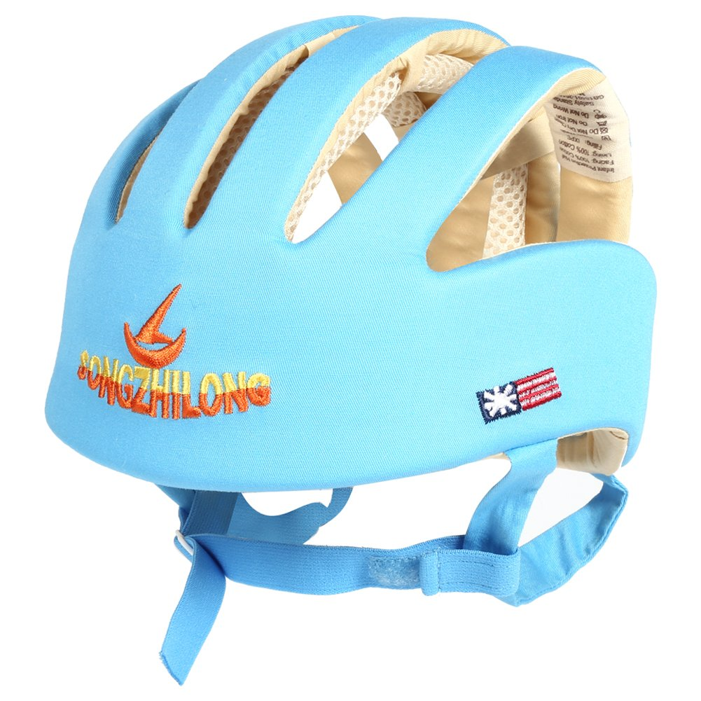 25f19c6bf89 Zjchao Kids Safety Helmet 1Pc 100% Cotton Kids Care Safety Hat Helmet For  Toddler Infant Baby Girls Boys Head Protecting(Blue)  Amazon.com.au  Baby