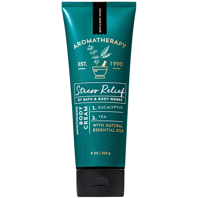 Bath and Body Works Aromatherapy STRESS RELIEF - EUCALYPTUS + TEA Body Cream 8 Ounce (2019 Edition)