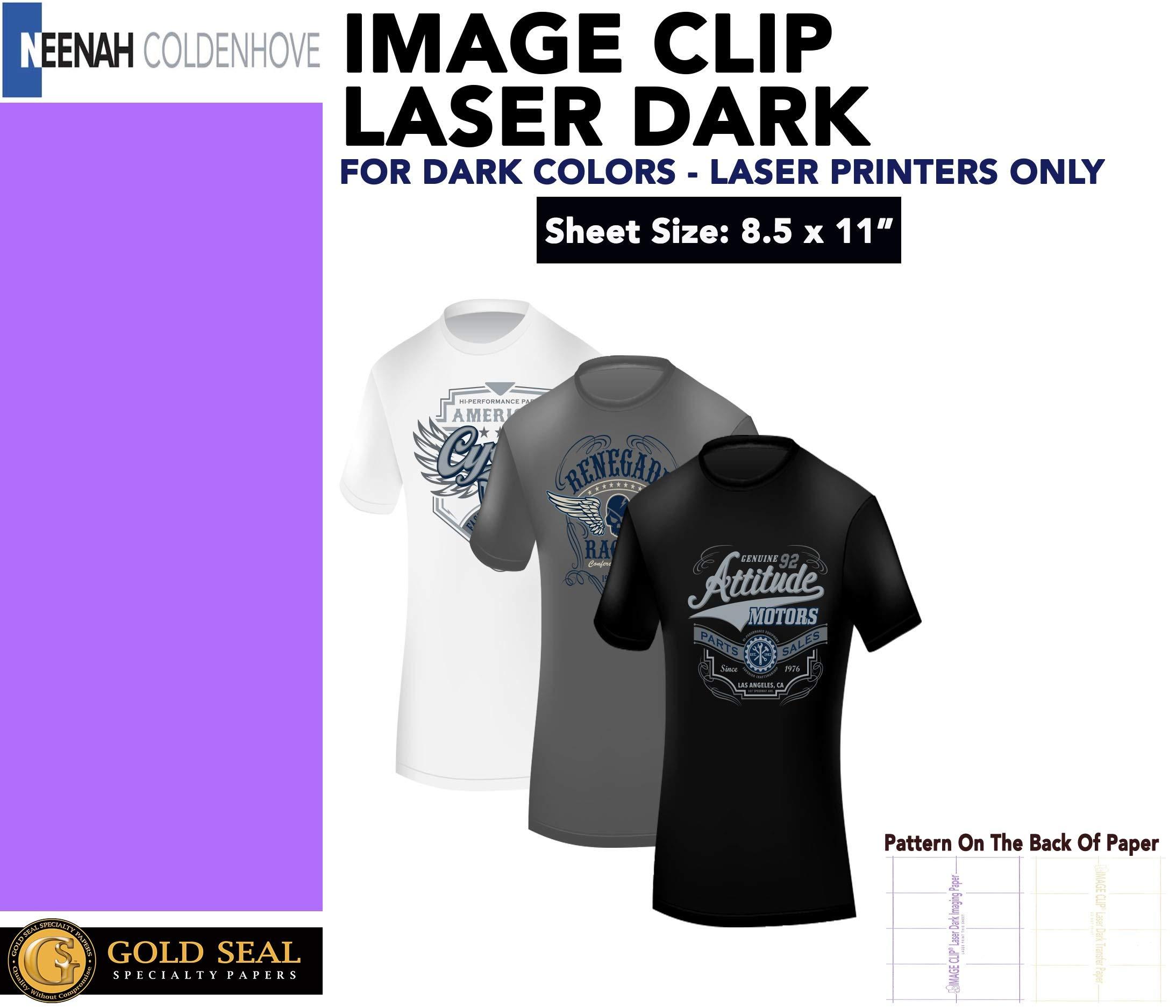 ImageClip Laser Dark Heat Transfer Paper 8.5''x11'' 100 Sheets