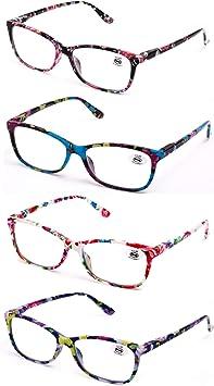 4sold Gafas de Lectura Presbicia Vista Cansada Pack 5 Graduadas fde 0.5 a 4.00 Dioptr/ías Montura de Pasta Azul Marr/ón Negra Carey Dise/ño Moda Hombre Mujer Unisex Lentes de Aumento