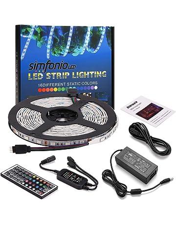 Simfonio Tiras Led RGB 5 Metros 300 Leds 5050 SMD Tira LED de Luces LED Kit