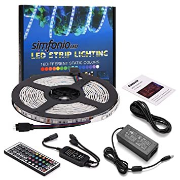 Simfonio Led Stripes 5m 300 Leds 5050 Smd Led Streifen Rgb