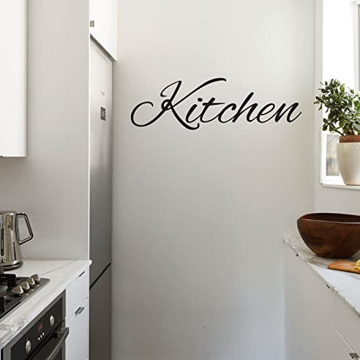 Personalised Classic Kitchen Sign Wall Stickers Vinyl Art Decals