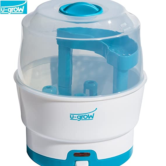 U-grow Baby Feeding 6 Bottle and Accessories Sterilizer, White and Green