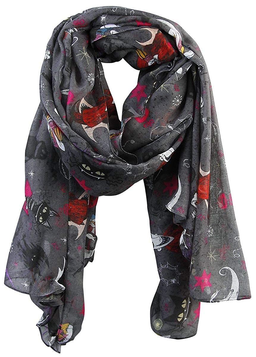 The Nightmare Before Christmas Collage Scarf Multicolour: Amazon.co ...