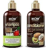 WOW Apple Cider Vinegar Shampoo & Hair Conditioner Set - (2 x 16.9 Fl Oz / 500mL...