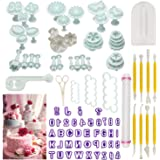 Cake Tools,90pcs Fondant Cake Mould Sugarcraft Alphabet Letters Cutters Cake Decorating Tools Cutters Icing Modelling…