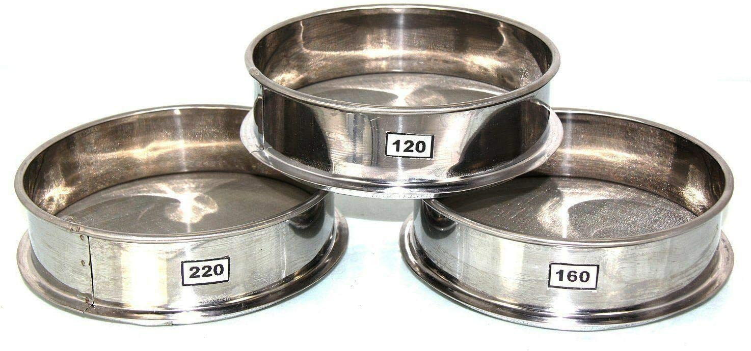 30CM Stainless Steel Herbal Pollen Hash Riddler Stackable Sifter Micron Shaker