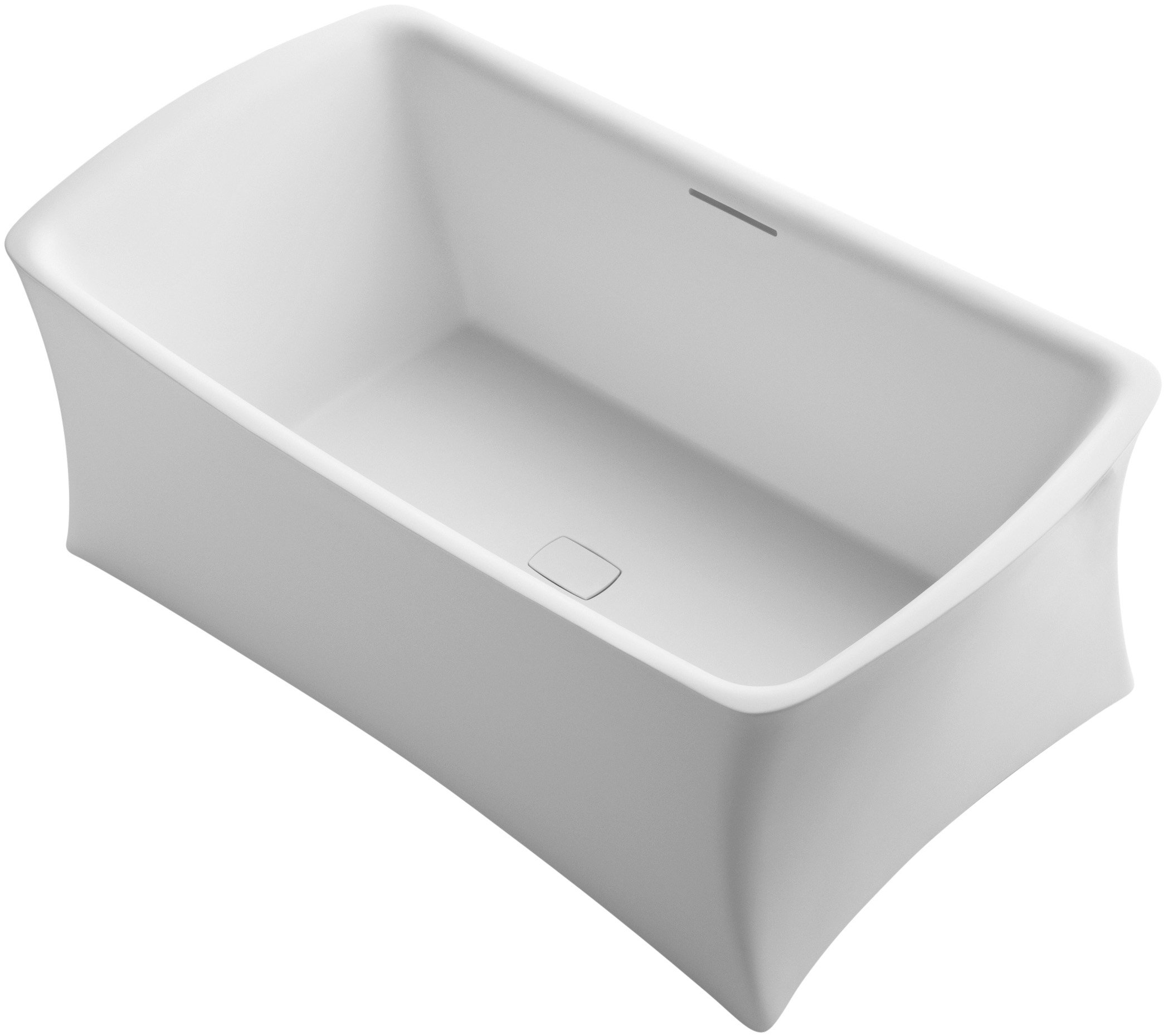 KOHLER K-1805-HW1 Aliento Freestanding Bath, Honed White