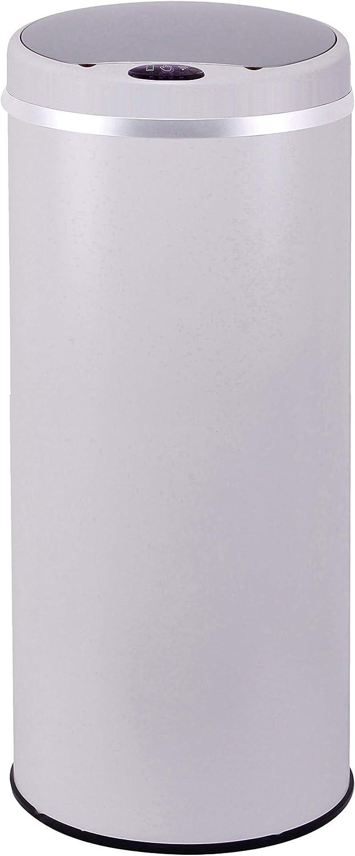 Poubelle de cuisine automatique 42L SOHO Taupe mat en acier INOX avec cerclage