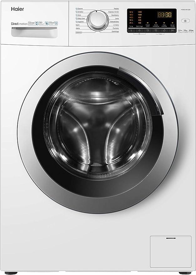Haier HW80-SB1230, lavadora 8 kg A+++-40%, opción vapor, libre ...