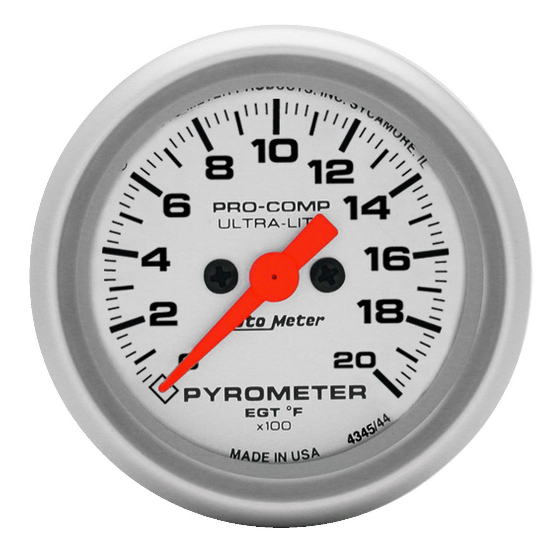 Auto Meter 4345 Ultra-Lite Electric Pyrometer 70%OFF - nhc