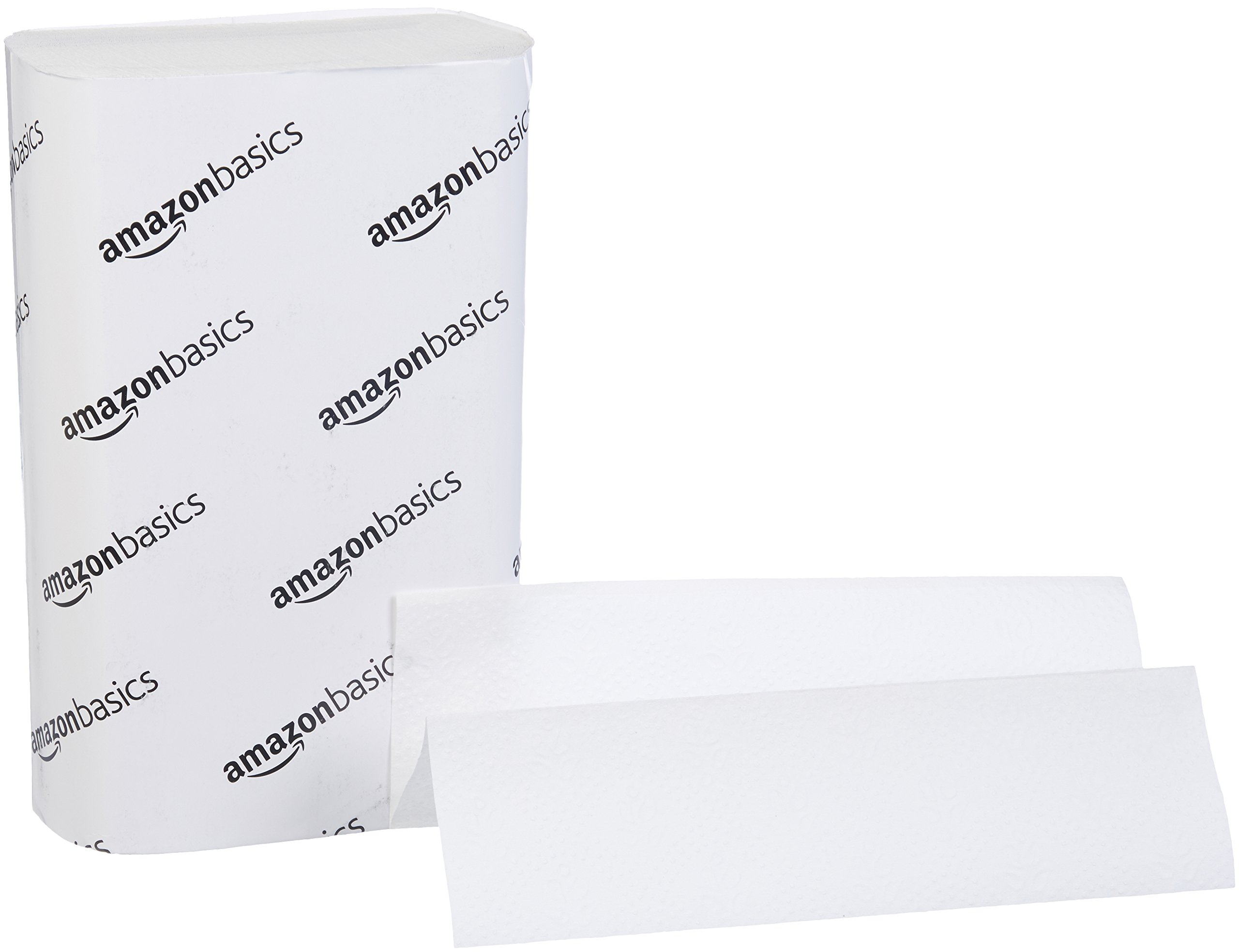 AmazonBasics Professional Multifold Paper Towels for Businesses, White, 250 Towels per Pack, 16-Pack
