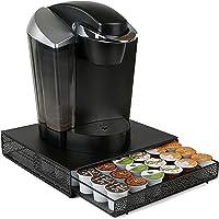 Mind Reader MTRAY-BLK Capacity K-Cup Coffee Pod Storage Organizer Drawer Metal Mesh, Black 36 Capacity MTRAY-BLK