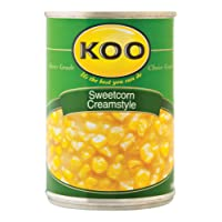 Koo Creamstyle Sweetcorn 415g - Koo Cream Style Sweetcorn - KOO Sweetcorn Creamstyle - Sweetcorn from South Africa