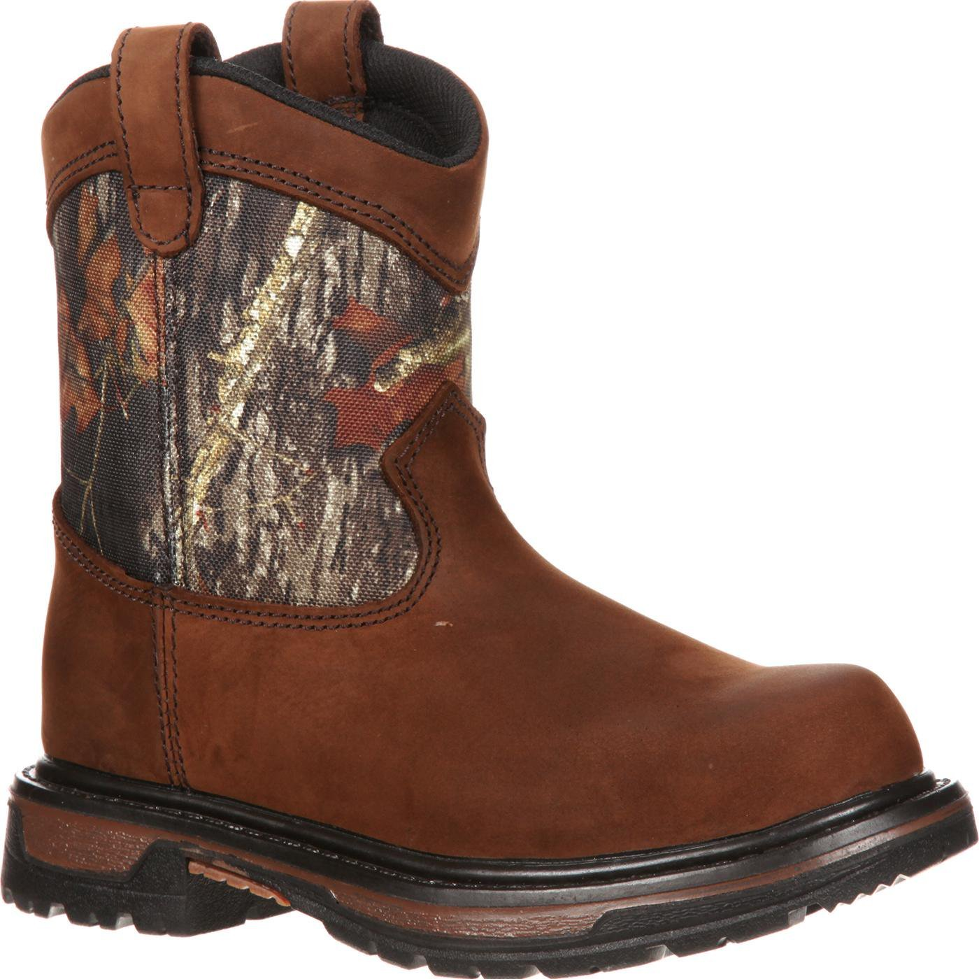 Rocky FQ0003633 Kids Wellington Boot Mossy Oak Break-up Camo 3 Wide