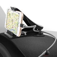 Universal Handyhalterung Auto, SAWAKE Armaturenbrett Kfz klebend Halterung mit Winkeleinstellbar 90 Grad für Garmin, TomTom, Magellan, Samsung Galaxy S9/S9+ S8/S8+ S7 EDGE, iPhone X/8/7/7Plus/6/6s Plus, LG, HTC, ASUS, Motom, Huawei, Sony usw. GPS-Gerät (3,0 bis 7,0 Zoll Geräte ) - Schwarz