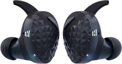 HELM True Wireless Bluetooth 5.0 Headphones, Earbuds, Audiophile HiFi Sound, Qualcomm aptX, Comfort Secure Fit, Sport Sweatproof, 6 Hrs Play Time 30 Hrs w Charging Case, Dual Mics, Auto-Pairing