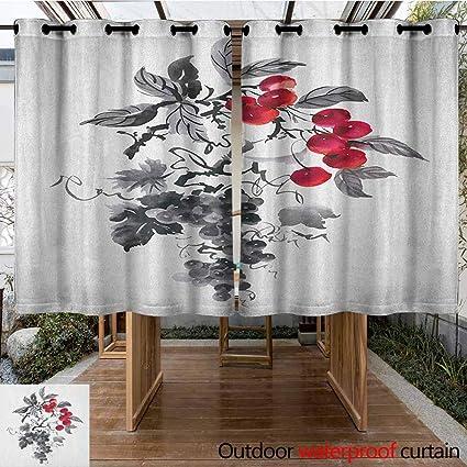 Amazon.com: AndyTours Outdoor Grommet Window Curtain,Rowan ...