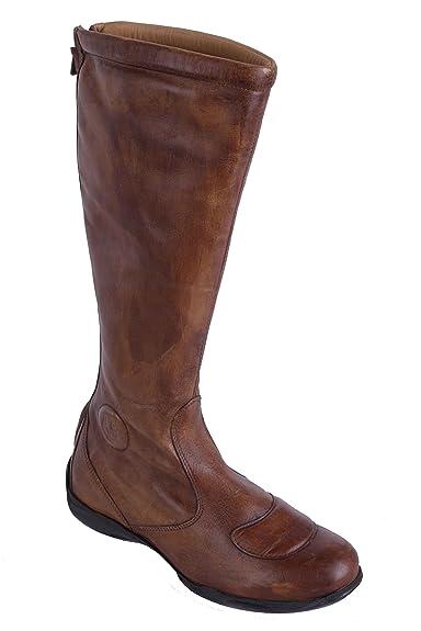 Belstaff Damen Schuhe Stiefel Boots Echtleder Braun Gr. 37#26 (37) EZmWaAGOIn