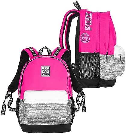 Victoria's Secret Pink Campus Backpack Gypsy Rose Marl Grey Book Bag