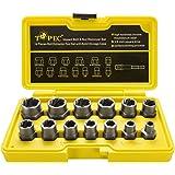 Juego de 13 piezas de extractor de tuercas dañados & extraer tornillos, juego de herramientas para extraer pernos…