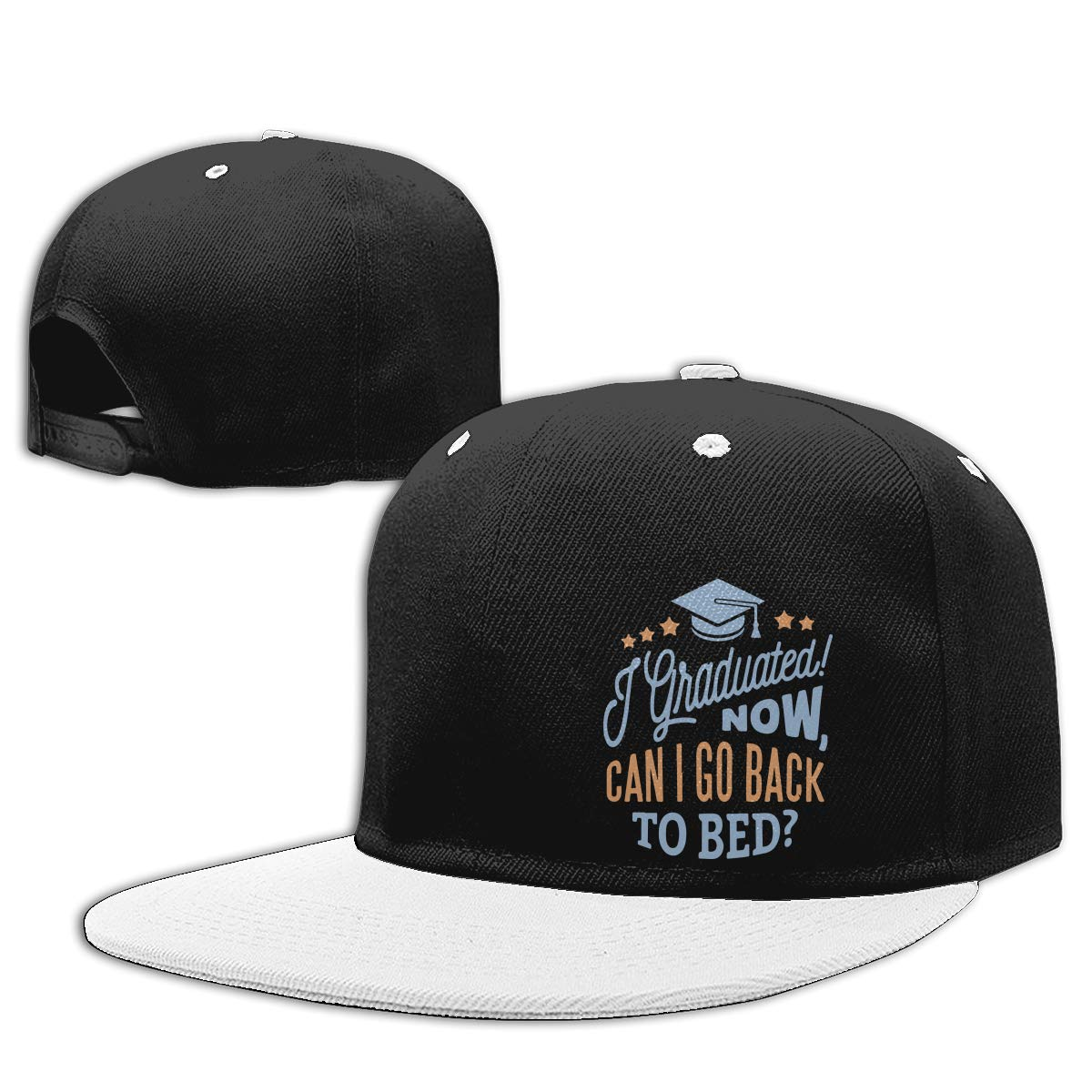 Funny Graduation Unisex Hip-Hop Baseball Caps NMG-01 Women Men Plain Cap