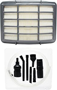 Upstart Battery Replacement for Shark NV356E Vacuum HEPA Filter with 7-Piece Micro Vacuum Attachment Kit - Compatible with Shark XHF350 HEPA Filter