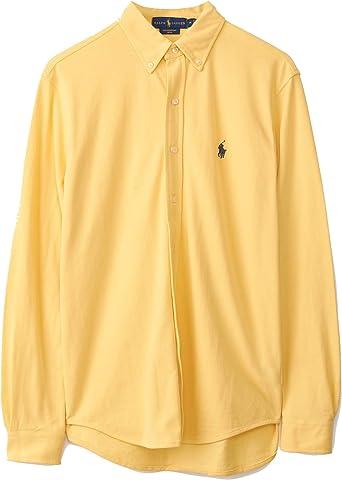 Polo Ralph Lauren camisa hombre mod. 710-654408 Amarillo: Amazon.es: Ropa y accesorios