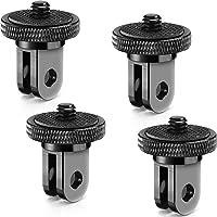 4 Pieces Aluminum Camera Conversion Tripod Adapter 1/4-20 Conversion Adapter Metal Camera Mount Adapter for Tripod…