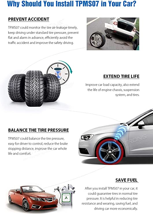 Xtrons Tpms Auto Reifendruck Kontroll Alarmsystem Mit 4 Elektronik