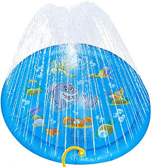 Splash Pad, Colchoneta Para Rociadores 37.80 Pulgadas Diámetro, Juguete Acuático Para Jardín, Chapoteadero Para Piscina Para Mascotas Para Actividades Familiares Al Aire Libre / Fiesta / Playa / Jar: Amazon.es: Hogar