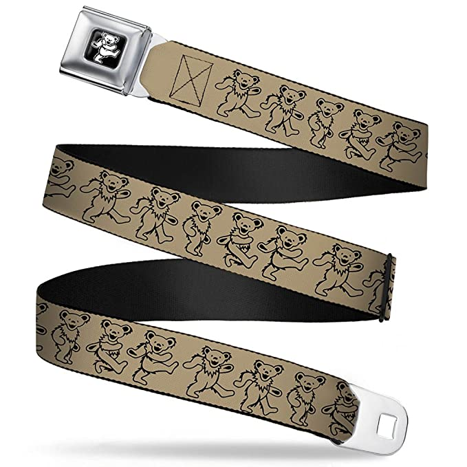 1b4b57761d Amazon.com: Grateful Dead Bear Seatbelt Belt - Dancing Bears Tan ...