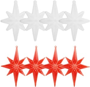 4 Pieces Large Octagonal Star Resin Mold, Gartful Diamond Star Silicone Decoration Casting Molds with Hanging Hole for Christmas Home Party Decor Door Wall Hanging DIY Crafts