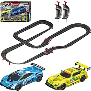 Carrera GO!!! 62522 Victory Lane Electric Powered Slot Car Racing Kids Toy Race Track Set Includes 2 Hand Controllers and 2 Cars in 1:43 Scale