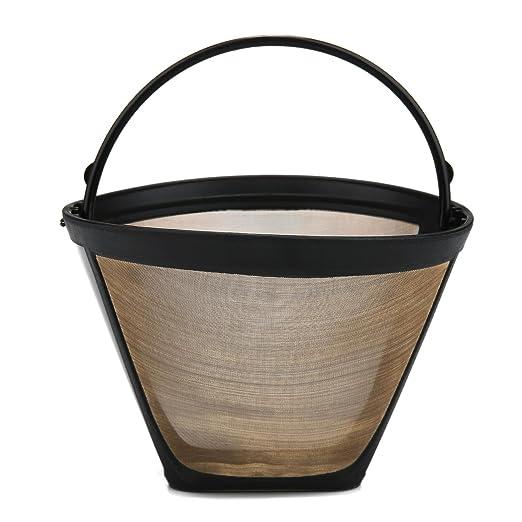 Kobwa tamaño 4 conos permanente filtro de café, lavable y ...