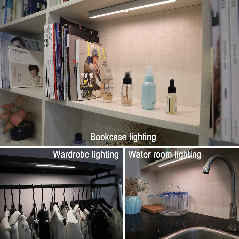 Wardrobe Under Counter Lights SZOKLED Wireless LED Puck Lights Remote Control LED Night Light for Bookshelf Kitchen Cabinet Lighting Battery Operated Led Closet Light