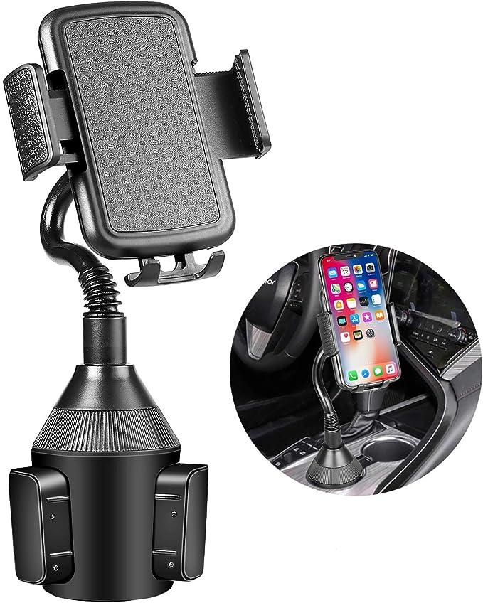 Verbesserte Getränkehalter Handyhalterung Verstellbarer Universal Becherhalter Handyhalterung Kfz Halterung Für Handy Kompatibel Mit Iphone 11 Pro Xr Xs Max X 8 7 Plus Samsung S10 Note 9 S8 Langer Hals Elektronik