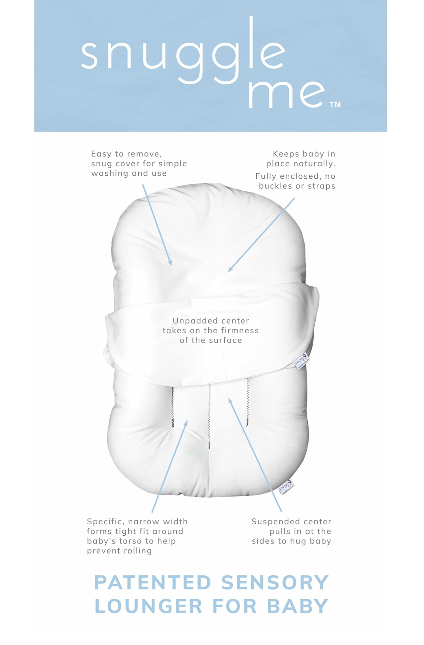 Snuggle Me Organic   Patented Sensory Lounger for Baby   organic cotton, virgin fiberfill