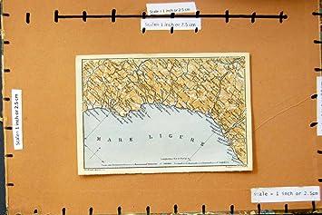Carte Italie Ligurie.Carte Italie 1928 Genes Savone Noli Nervi Sestri Ligure Amazon Fr