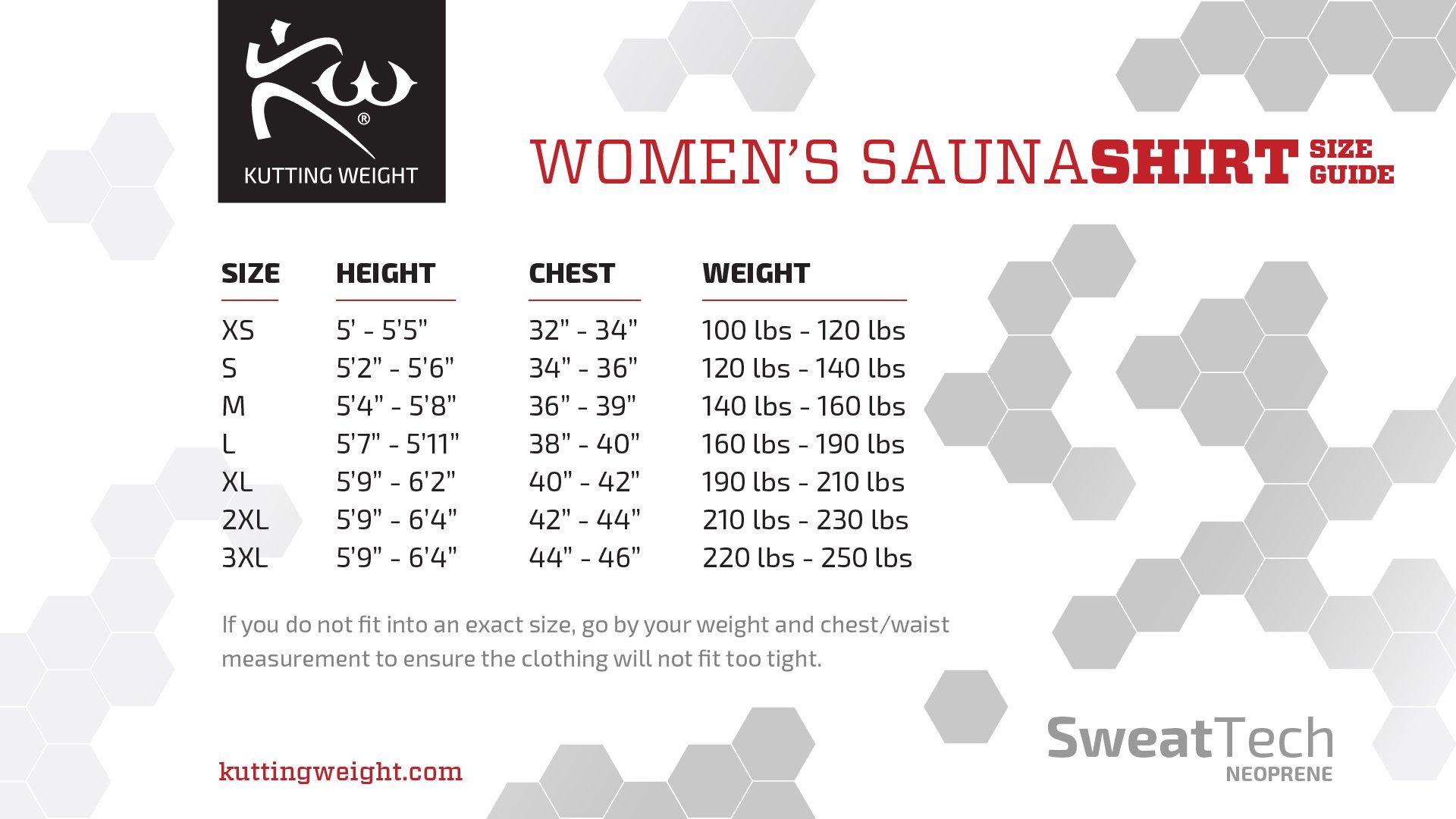 Women's - Kutting Weight (Cutting Weight) Neoprene Weight Loss Sauna Shirt (X-Small)