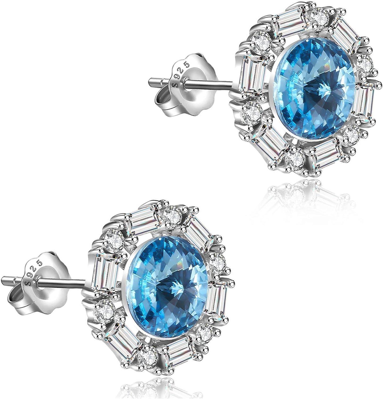 Zane Style Pendientes de plata de ley 925 | Circón de circón de Swarovski, joyas hipoalergénicas y sin níquel/pendientes de mujer
