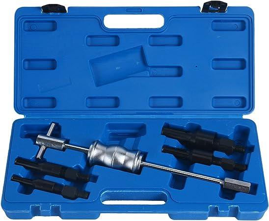 Juego de 9 Martillos Extractor Cojinetes Interior Extractor de Cojinete de Agujero Ciego 8/—32mm con Martillo Deslizante