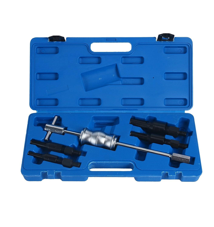 FreeTec –  Juego de 5 piezas con extractor de cojinete interno y extractor de cojinete de agujero ciego con martillo deslizante freebirdtrading